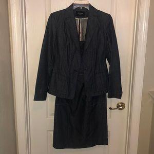 Denim suit dress